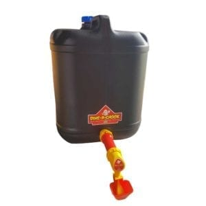 Chicken Drum Drinker with lubing cup extension